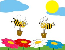 Model desen albinuțe
