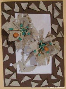Bianca B., Luncile Tablou cu flori şi mozaic