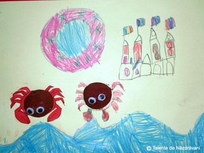Radu V , Slobozia , 6 ani Doi crabi au vizitat castelul meu de nisip