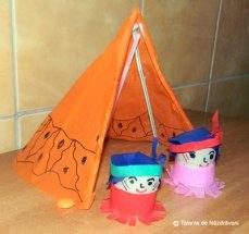 Indieni din dopuri de plută
