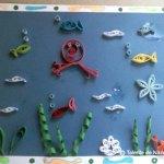 Pești sub apă. Quilling