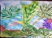 Pictură. Flori de mare