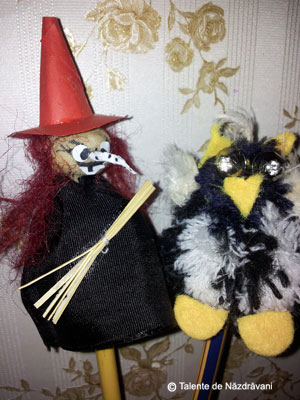 Creioane decorate de Halloween