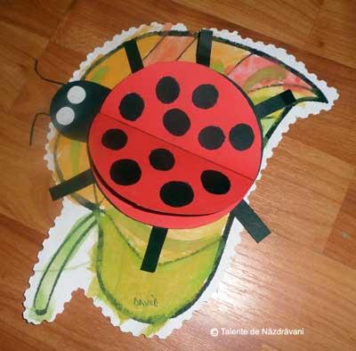Colaje cu insecte pe frunze