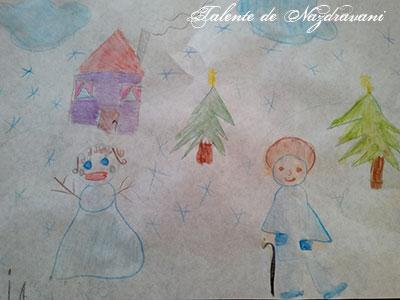 Zăpezica și bunicul Îngheț, desen