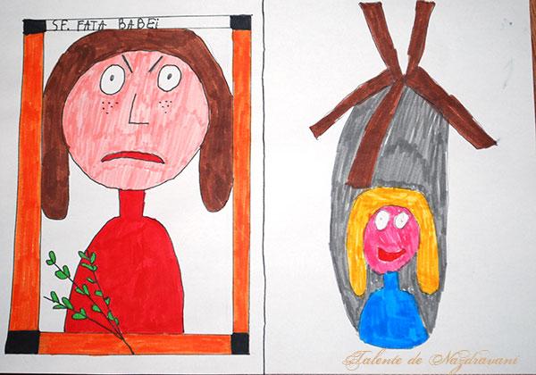 Gabriel L., Costeiu, clasa a VIa: Pentru babă, fata moșneagului era piatră de moară în casă, iar fata ei busuioc de pus la icoane.