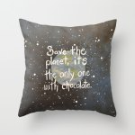 cadeaux noel talented girls coussin save the planet