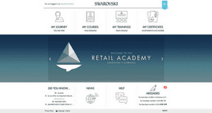 Swarovski Retail Academy Dashboard Screenshot - Absorb LMS - Talented Learning LMS Review