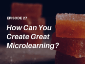 "How do you make microlearning work? Listen to this podcast interview with elearning expert and co-author of the popular new book ""Microlearning Short and Sweet"" - Dr. Karl Kapp"