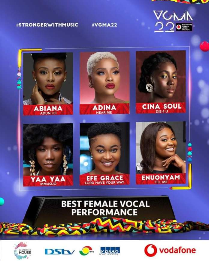 FB IMG 1617468956436 Final List Of Nominees For VGMA 2021- 22nd Edition