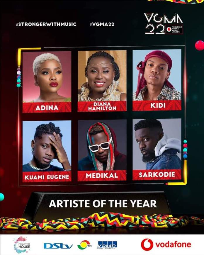 FB IMG 1617483497080 Final List Of Nominees For VGMA 2021- 22nd Edition