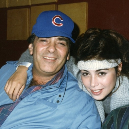 Lisa with her dad in her earlier years