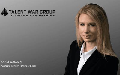 Talent War Group selects Karli Waldon as Managing Partner, President & COO