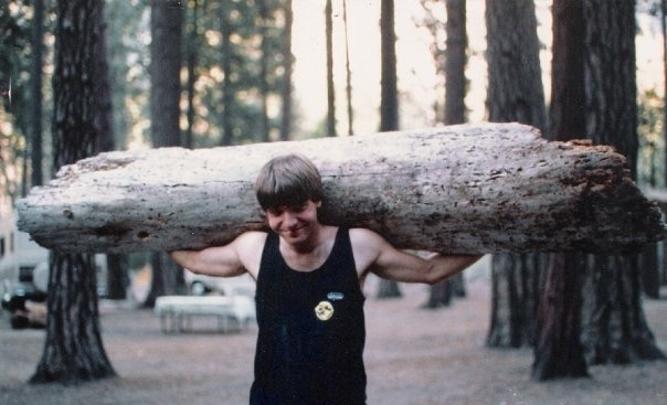 CD Gathering firewood in Yosemite