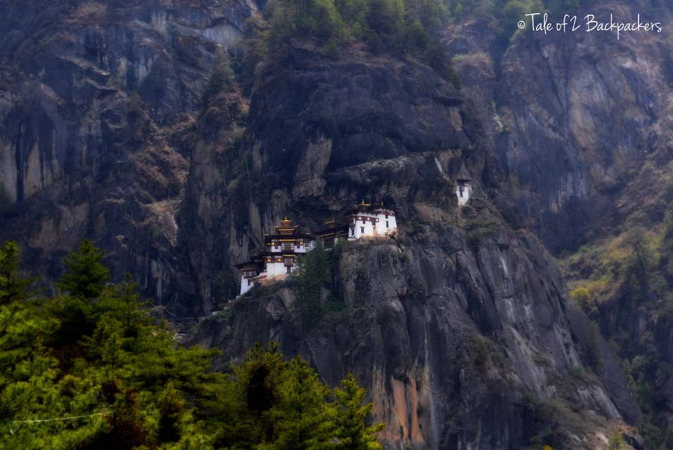 The first resting point and the glimpse of the Monastery