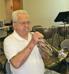 Dan and his beloved trumpet