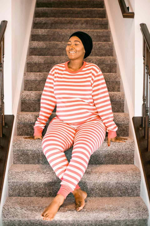 Pink Pajamas - Maternity shoot