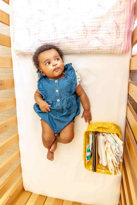 Hotel room crib