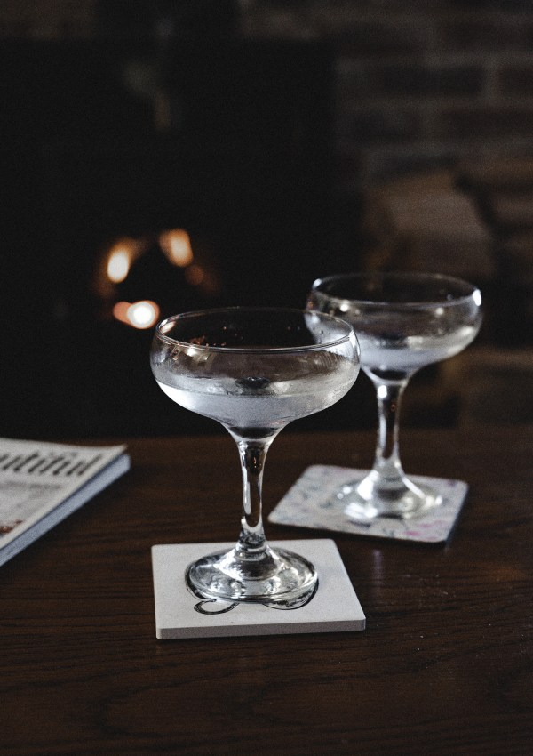 Dry Gin Martini for Winter