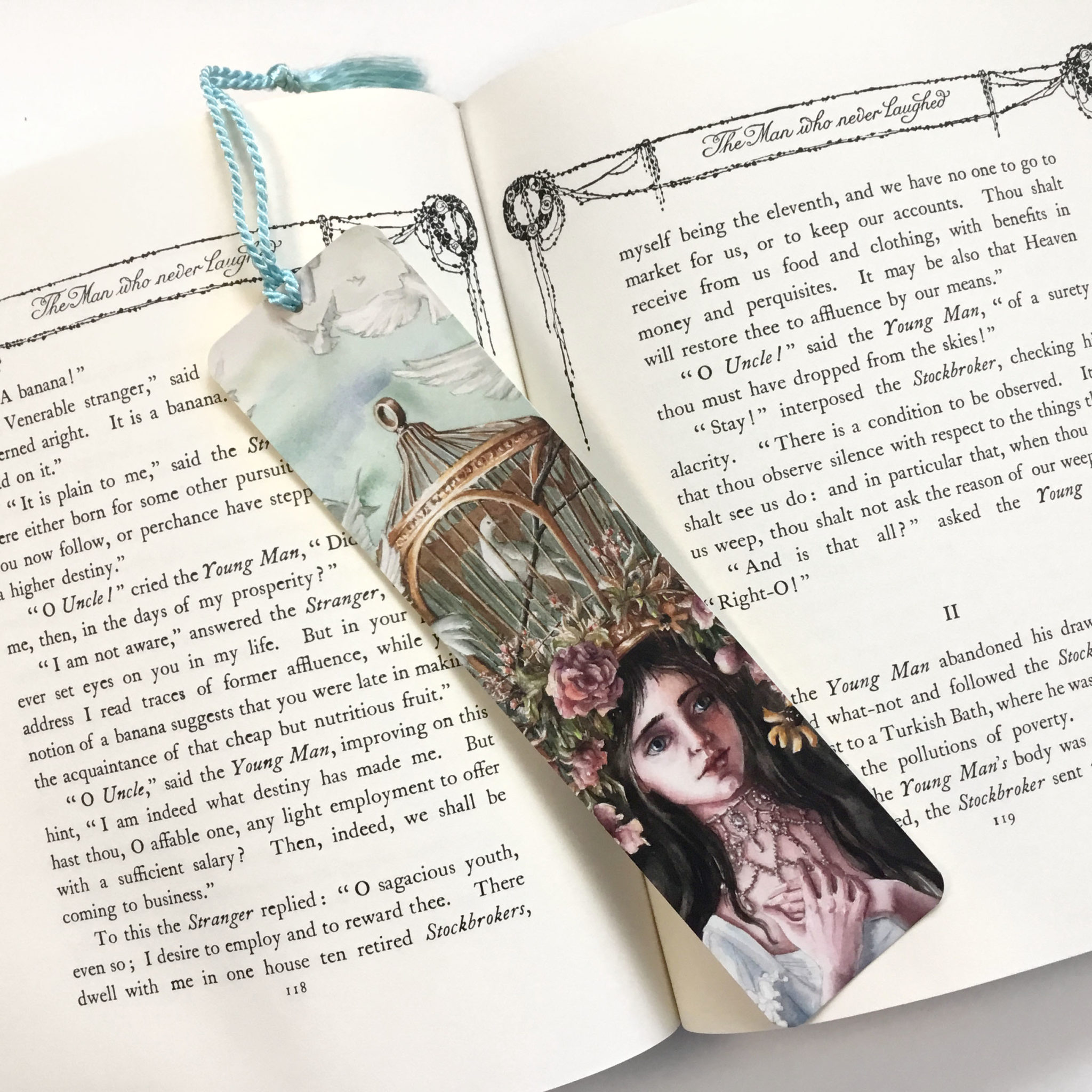 cage of safety bookmark book