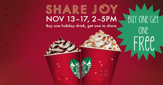 Buy-1-Get-1-Free-Starbucks-Holiday-Drinks