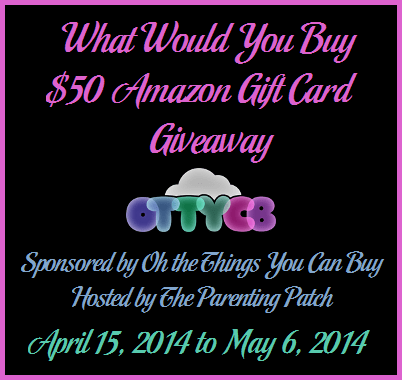 2014-04-15 What Would You Buy $50 Amazon Gift Card Giveaway