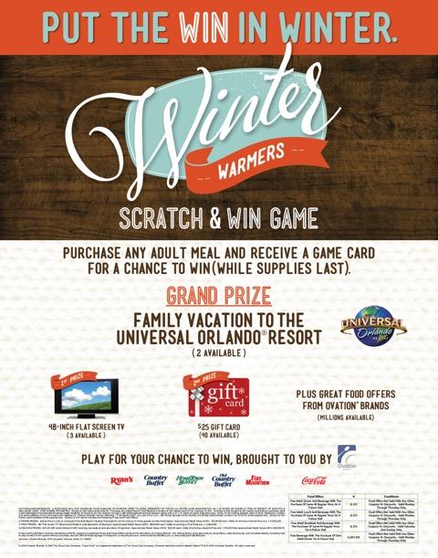 Winter Warmers Scratch & Win 1-5-15