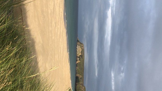Wild camping on a beach, showing camping is great