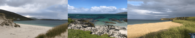 UK Beaches from tented wild camping expeditions