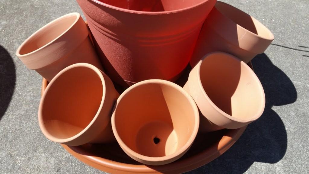 DIY Spring Planter. Pot Set-up
