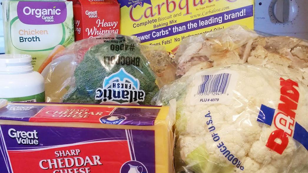 Keto Turkey Pot Pie Ingredients