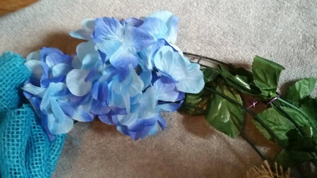 DIY Spring wreath Step 6