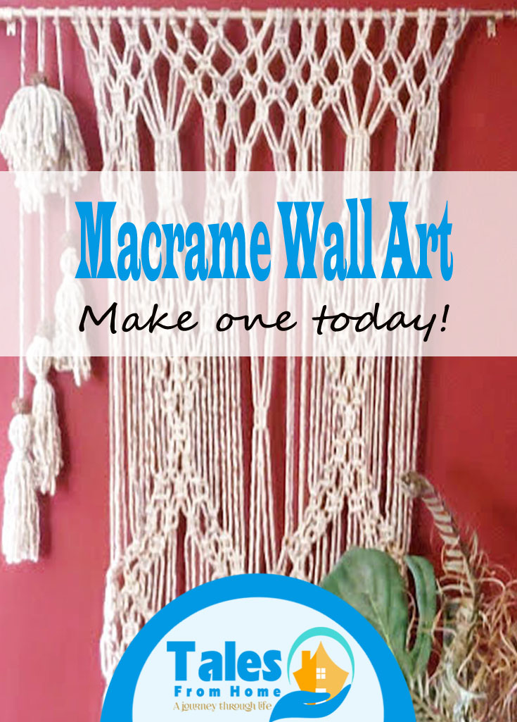 Macrame Wall Art an beautiful way to decorate your home. #Macrame #wallart #wallhanging #diy #trysomethingnew