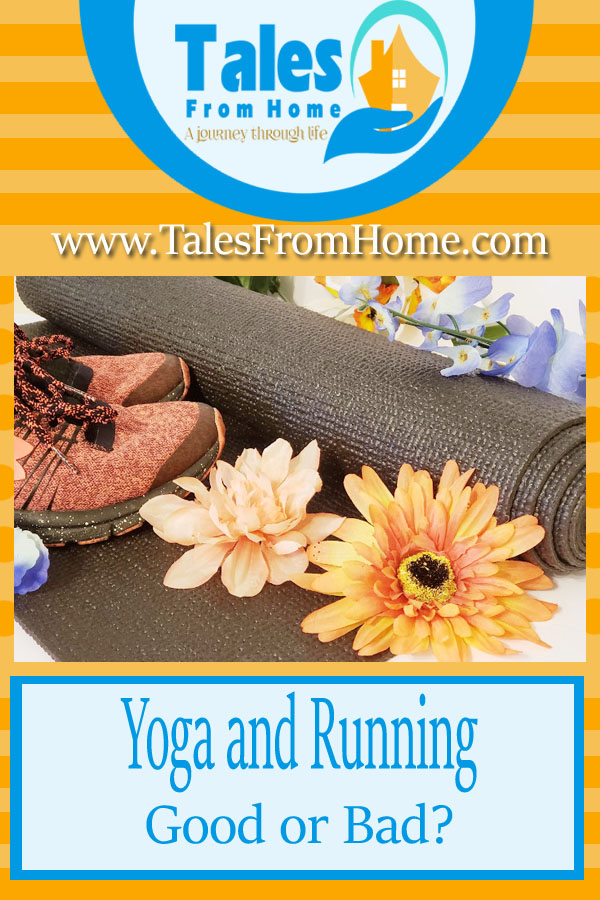 Yoga and running pinterest image