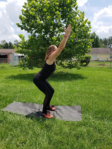 Lower body yoga poses for runners, chair pose