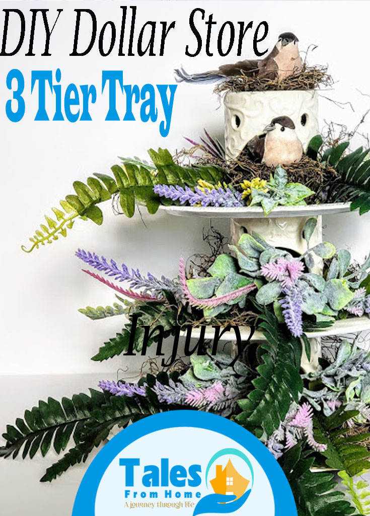 DIY Dollar Store three tier tray #crafts #art #artsadcrafts #dollarstore #tieredtray #3tiertray