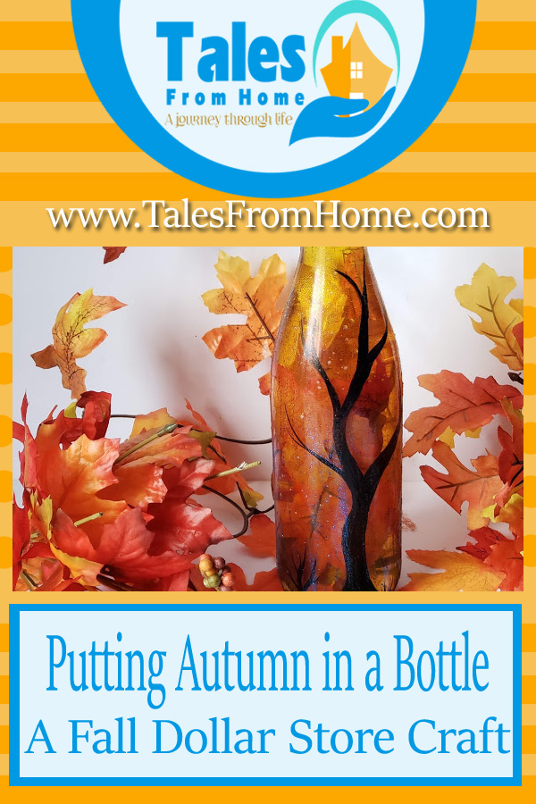 Putting Autumn in a bottle a DIY Fall Dollar Store Craft #DIY #Fall #autumn #Dollarstore #dollartree #dollarstorecraft #simplecraft #bottle #Fallcrafts