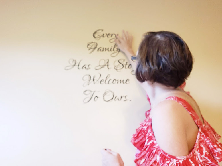 applying wall decals make sure its on