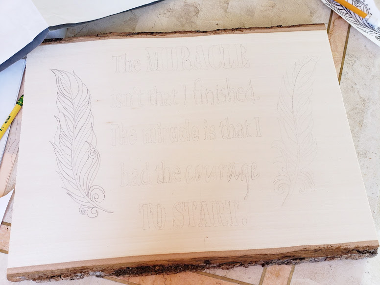 pyrography tips trace your design onto the wood