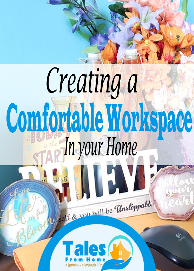 creating a comfortable workspace at home #workfromhome #sahm #blogger #blogs #workspace #organization #getorganized