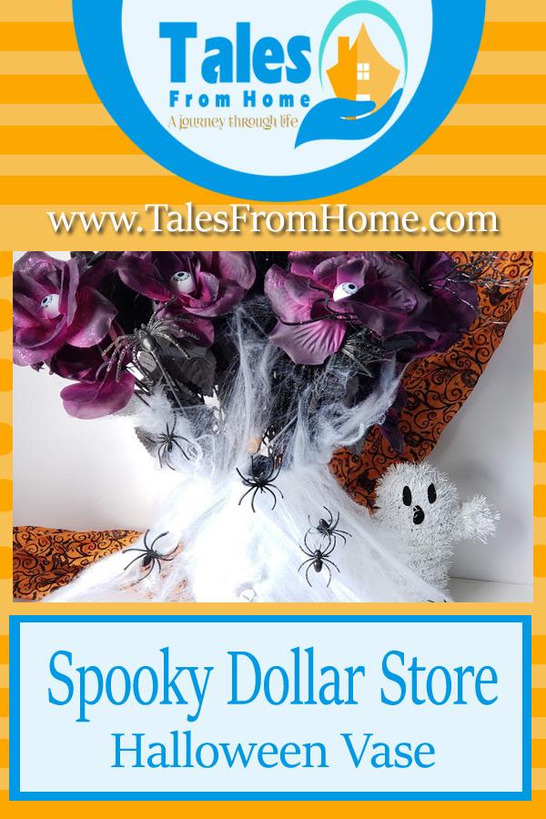 Spooky Dollar Store Halloween Vase! #Halloween #Vase #Halloweendecor #holidaydecor #spookyDecor #fall #holidays #dollarstore #dollartree