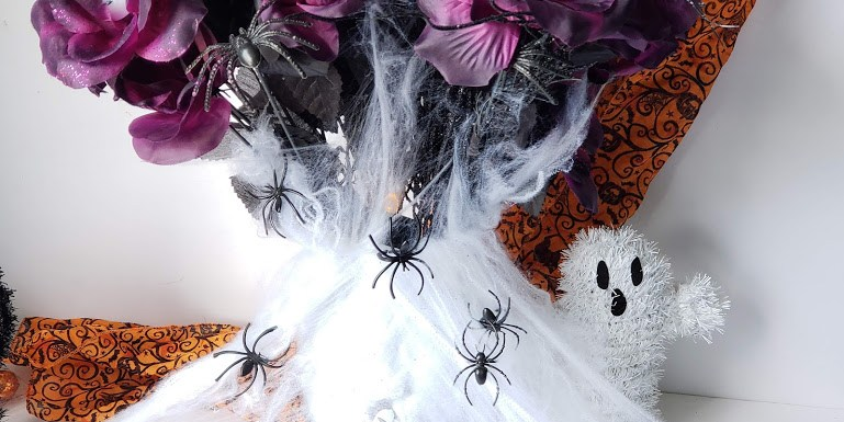 dollar store halloween vase header