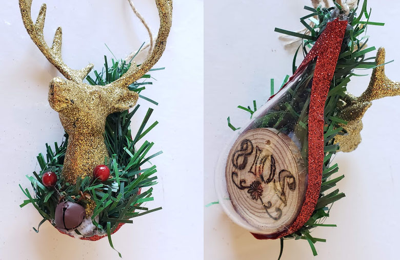 diy christmas ornament completed project