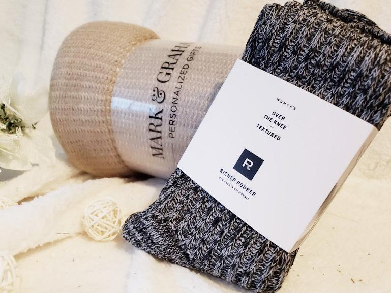 FabFitFun winter box review, blanket and socks