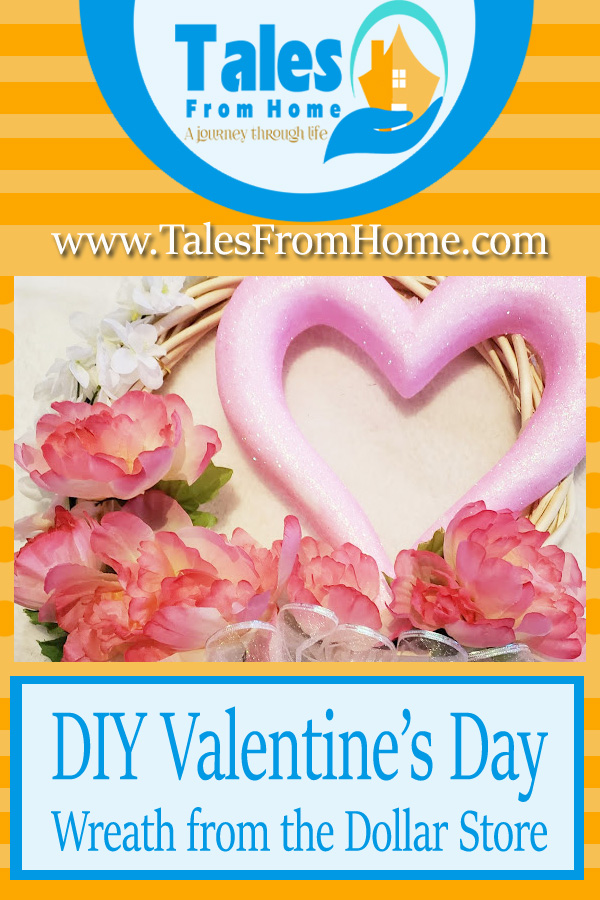 DIY Valentines Day Wreath from the Dollar Tree #DIY #Valentinesday #Crafts #dollarstore #dollartree #dollarstoredecor #valentinesdaydecor