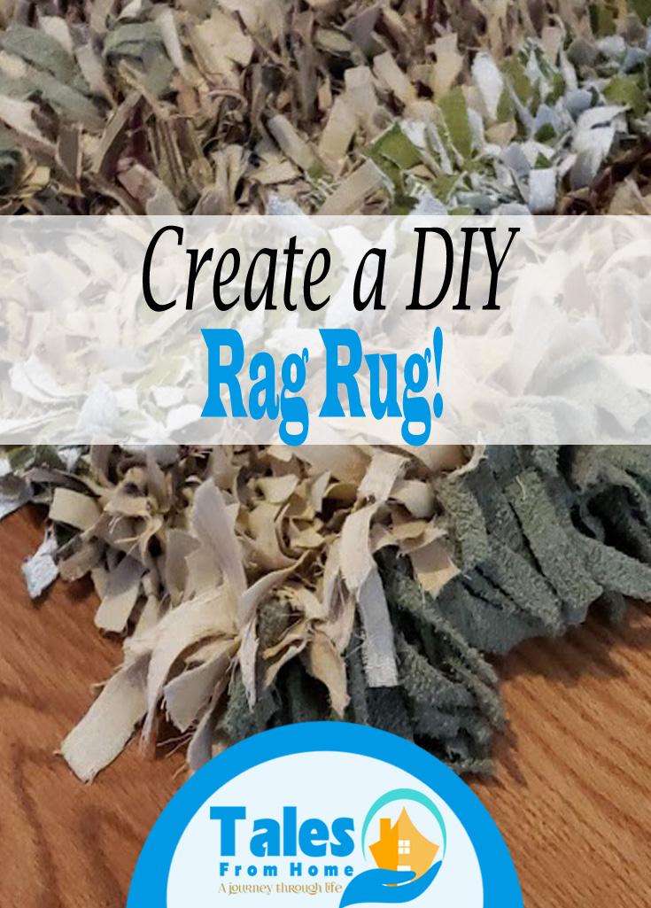DIY Rag Rug A simple fun project! #DIY #Rug #Crafts #arts #DIYDecor #Homedecor