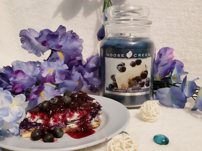 Blueberry Cheesecake scented candle from Goose Creek Candle