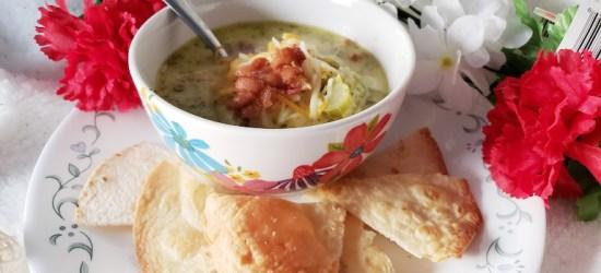Keto Soup, Ham, Cheddar and Broccoli makes a delicious combination,