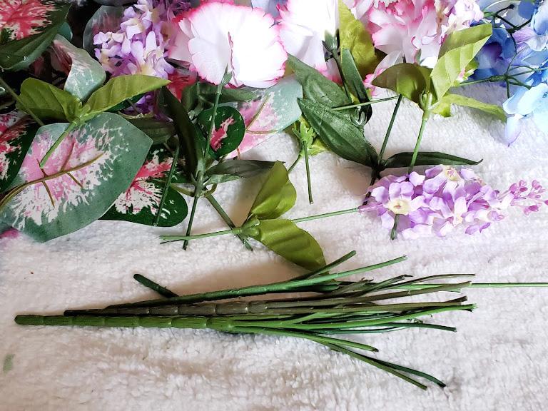 DIY Easter Centerpiece - cut florals