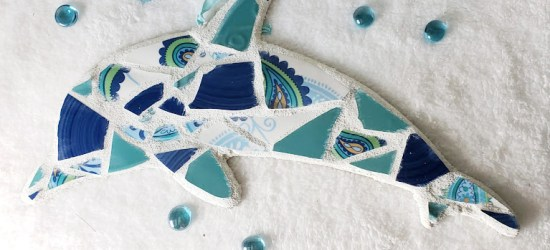 DIY Mosaic Projects, Dolphin wall hanging
